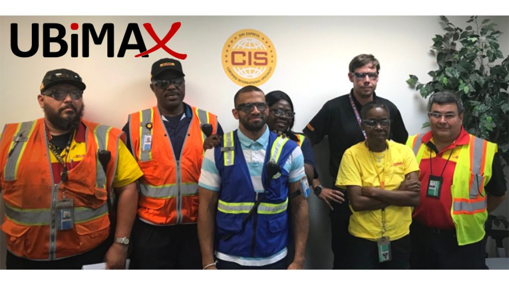 Happy customers at LAX airport. DHL using Ubimax Frontline for their logistics processes.