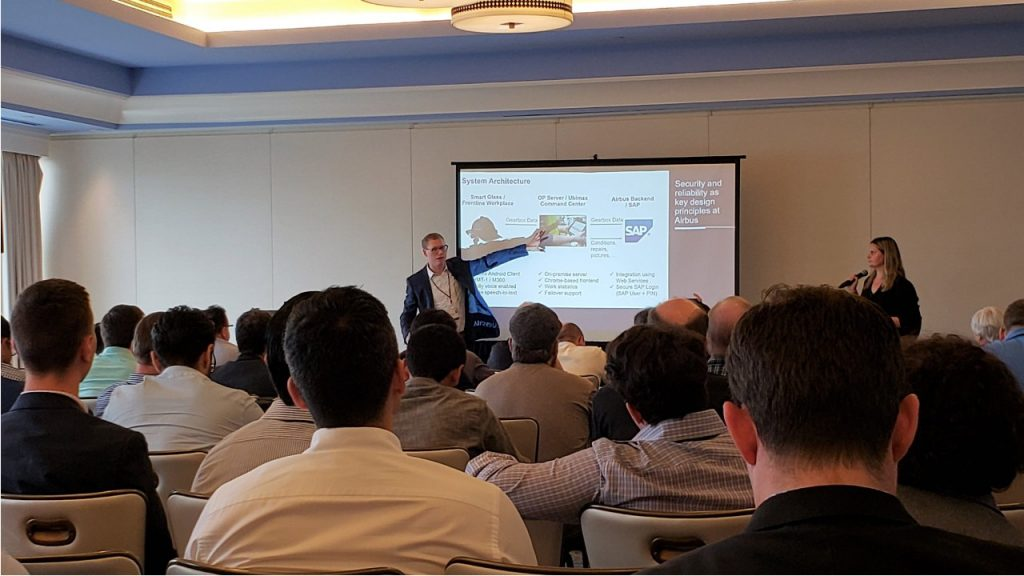Percy Stocker giving a joined talk with Airbus Helicopters at EWTS in Austin Texas, October 2018
